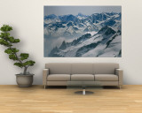 A View of the Swiss Alps from Col Du Chardonnet, Mount Blanc Region Mural por Gordon Wiltsie