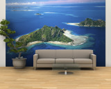 Aerial of Maolo Island, Mamanuca Islands, Fiji Wall Mural – Large by David Wall