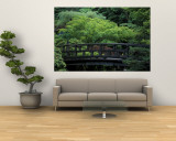 Footbridge in Japanese Garden, Portland, Oregon, USA Wall Mural by Adam Jones