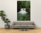 Rain Forest Waterfall, Costa Rica Wall Mural by Michael Melford