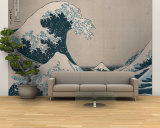 "The Great Wave Off Kanagawa, from the Series ""36 Views of Mt. Fuji"" (""Fugaku Sanjuokkei"") Wall Mural – Large by Katsushika Hokusai"