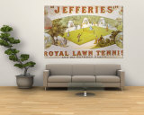 A Royal Lawn Tennis Set for 4 Players Made by Jefferies, Woolwich, circa 1875 Art Mural