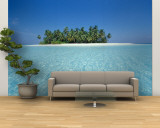 Uninhabited Tropical Island, Ari Atoll, Maldives Wall Mural – Large by Stuart Westmoreland