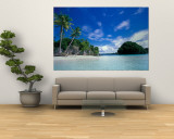 Bay of Honeymoon Island, World Heritage Site, Rock Islands, Palau Mural por Stuart Westmoreland