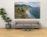 A View of Bixby Bridge on Hwy 1, Along Californias Big Sur Coast Wall Mural