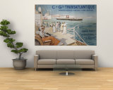 Cie. Gle. Transatlantique, circa 1910 Wall Mural