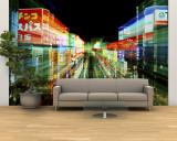 Neon, Tokio, Japón Gran mural por Rob Tilley
