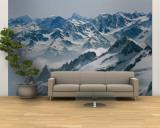 A View of the Swiss Alps from Col Du Chardonnet, Mount Blanc Region Reproduction murale géante par Gordon Wiltsie
