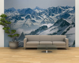 A View of the Swiss Alps from Col Du Chardonnet, Mount Blanc Region Wall Mural – Large by Gordon Wiltsie