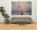 Pink Clouds, Antibes Wall Mural by Paul Signac