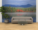 Fall Reflections in Chocorua Lake, White Mountains, New Hampshire, USA Wall Mural – Large by Jerry & Marcy Monkman