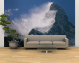 Snow Blows off of the Matterhorn Above Zermatt Wall Mural – Large by Gordon Wiltsie