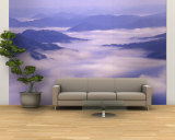 Valley Mist, Pine Mountain Kingdom Come State Park, Appalachian Mountains, Kentucky, USA Wall Mural – Large by Adam Jones