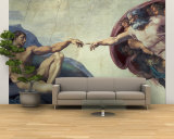 The Creation of Adam, circa 1510 (Detail) Wall Mural – Large by  Michelangelo Buonarroti