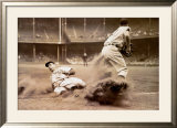 Joe DiMaggio Sliding into Third Print