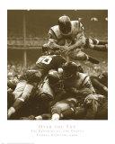 Hoch hinaus: Redskins gegen Giants, ca. 1960 Poster von Robert Riger