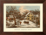 American Homestead Winter Posters by Currier &amp; Ives 