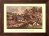 American Homestead Spring Posters by Currier &amp; Ives 