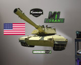 M1 Abrams Tank- Fathead Wall Decal