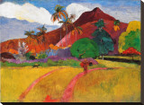 Tahitian Landscape Stretched Canvas Print by Paul Gauguin