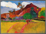 Tahitian Landscape Framed Canvas Print by Paul Gauguin