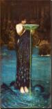 Circe Invidiosa Stretched Canvas Print by John William Waterhouse