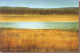Riverside Stretched Canvas Print by Caroline Gold