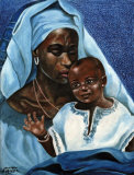 Black Madonna and Child Print by Ballenger