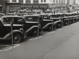 Black Cars and Meters, Omaha, Nebraska, c.1938 Posters af John Vachon