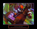 Success: Horse Race Jockey Posters van Bill Hall