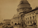Capitol under Construction, Washington, D.C., c.1863 Posters par Andrew J. Johnson