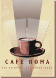 Cafe Roma Stretched Canvas Print by Kelvie Fincham