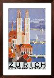 Zurich Metropolis Print by Otto Baumberger