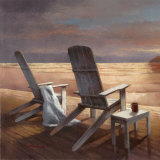 Beach Chairs Art by T. C. Chiu