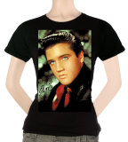Juniors: Elvis - Red Scarf T-Shirt