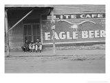 Street Scene, Natchez, Mississippi, c.1935 Fotografisk tryk af Ben Shahn
