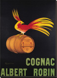 Cognac Albert Robin Stretched Canvas Print by Leonetto Cappiello