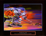 Goals: Hockey Print by Bill Hall