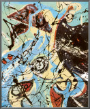 Composition Framed Canvas Print by Jackson Pollock