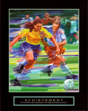 Achievement: Soccer Poster von Bill Hall