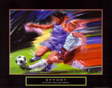 Effort: Soccer Affiches par Bill Hall