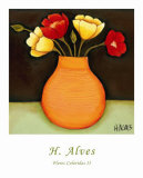 Flores Coloridas II Posters by H. Alves