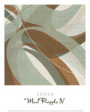 Mint Ripple IV Prints by Ahava