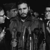 Fidel Castro arrives at MATS Terminal, Washington, D.C., c.1959 Poster