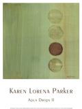 Aqua Drops II Prints by Karen Lorena Parker