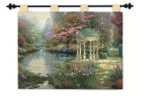 The Garden of Prayer Wall Tapestry by Thomas Kinkade