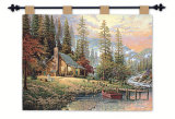 Peaceful Retreat Wall Tapestry by Thomas Kinkade