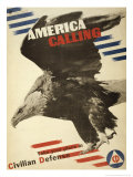 America Calling, Take Your Place in Civilian Defense, c.1941 Kunstdrucke von Herbert Matter