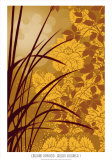 Golden Flourish I Prints by Edward Aparicio