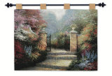 Victorian Garden Wall Tapestry by Thomas Kinkade